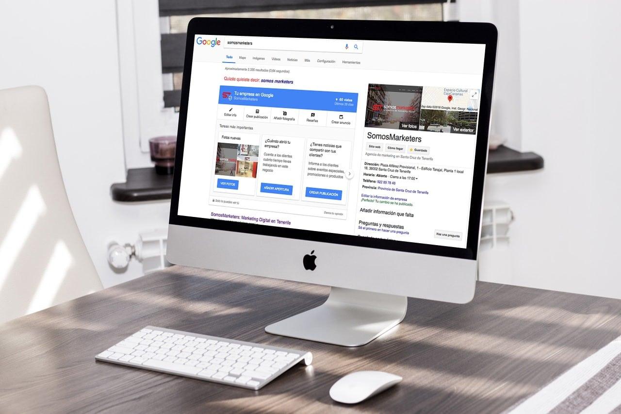 Posicionamiento Web SEO Tenerife SomosMarketers